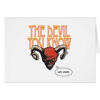Cartes Le diable que vous connaissez