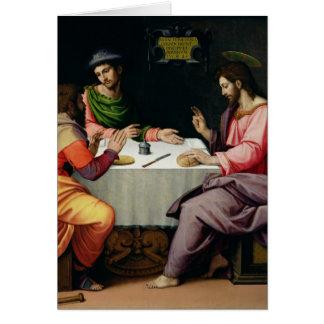 Cartes Le dîner chez Emmaus, c.1520