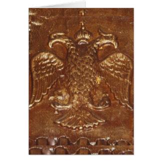 Cartes Le double a dirigé le manteau d'empire bizantin