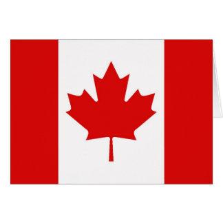 Cartes Le drapeau de feuille d'érable du Canada