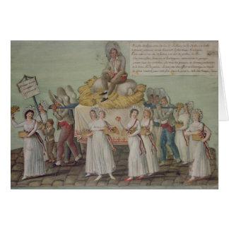 Cartes Le festin de l'agriculture en 1796 à Paris
