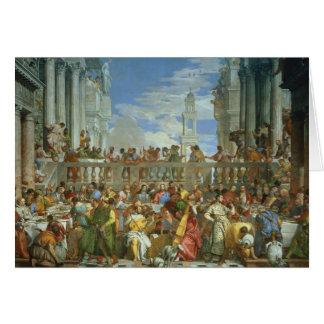 Cartes Le festin de mariage chez Cana, c.1562 (huile sur
