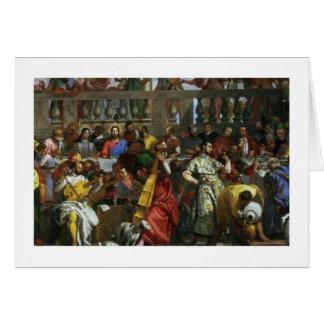 Cartes Le festin de mariage chez Cana, coordonnée des