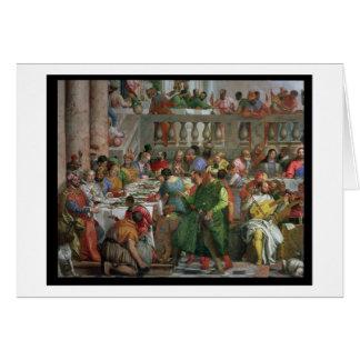 Cartes Le festin de mariage chez Cana, détail de régaler