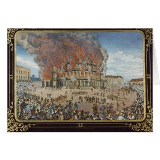Cartes Le feu au théâtre royal à Dresde