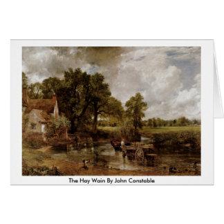 Cartes Le foin Wain par John Constable