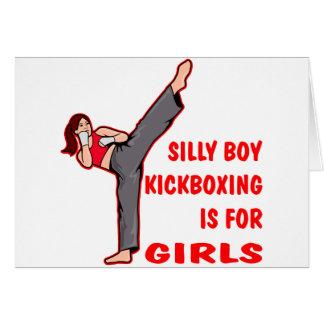 Cartes Le garçon idiot Kickboxing est pour des filles