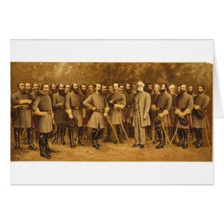 Cartes Le Général confédéré Robert E. Lee et ses généraux