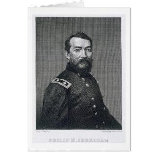 Cartes Le Général Philip Sheridan, gravé d'un photograp