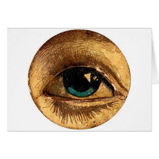 Cartes Le globe oculaire semi-transparent d'oeil vous