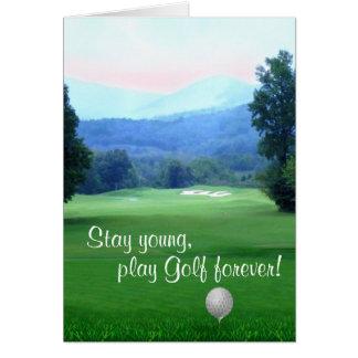 Cartes Le golf de jeu, restent le jeune joyeux