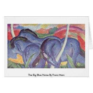 Cartes Le grand cheval bleu par Franz Marc