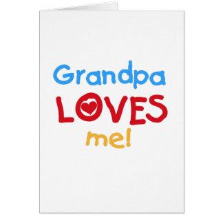 Cartes Le grand-papa de couleurs primaires m'aime des
