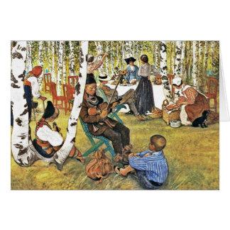 Cartes Le grand-papa joue le violon de Hardanger