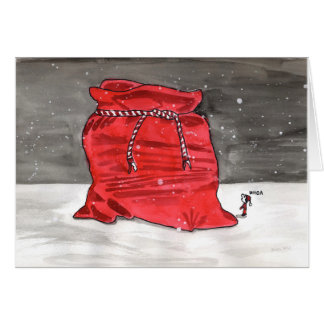 Cartes Le grand sac de Père Noël