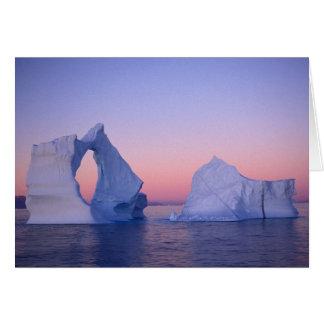 Cartes Le Groenland, iceberg au coucher du soleil