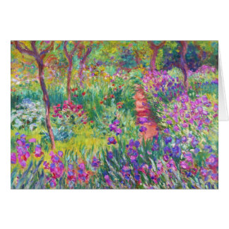 Cartes Le jardin d'iris au cool de Giverny Claude Monet,