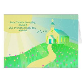 Cartes Le Jésus-Christ chrétien est aujourd'hui levé