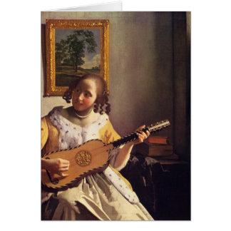 Cartes Le joueur de guitare par Johannes Vermeer