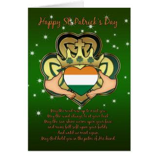 Cartes Le jour Claddagh, shamrock de St Patrick,