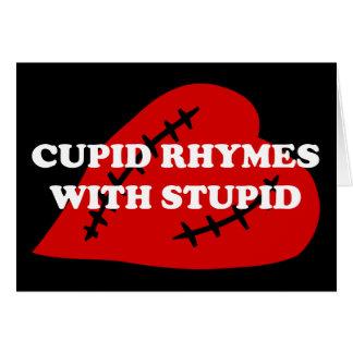 Cartes Le jour d'Anti-Valentine : Rimes de cupidon avec