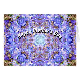 Cartes Le jour de mère de mandala de jacinthe