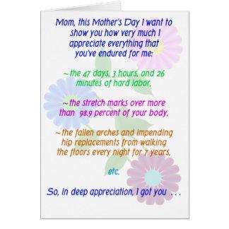 Cartes Le jour de mère heureux pour tous que vous avez