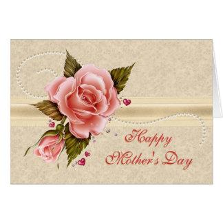 Cartes Le jour de mère rose de roses