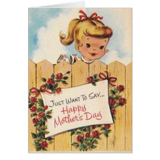 Cartes Le jour de mère vintage - fleurissez et