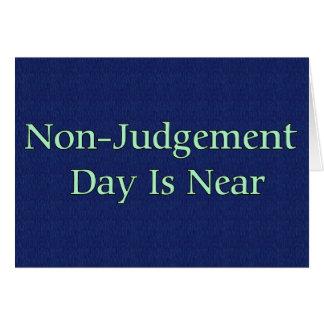 Cartes Le jour de Non-Jugement est près