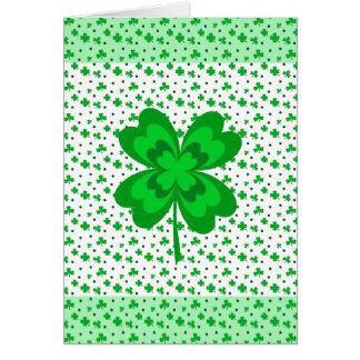 Cartes Le jour de St Patrick de bonne chance de