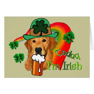 Cartes Le jour de St Patrick de golden retriever