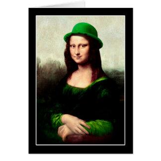 Cartes Le jour de St Patrick - Mona Lisa chanceuse