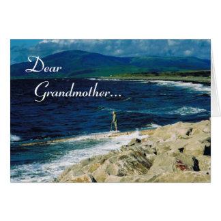 Cartes Le jour du grand-parent heureux/grand-mère Seaview
