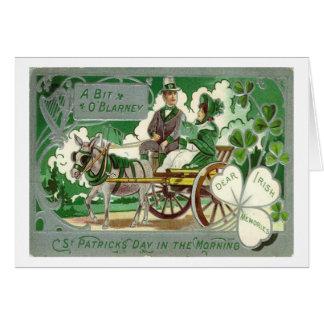 Cartes Le jour vintage de St Patrick irlandais de