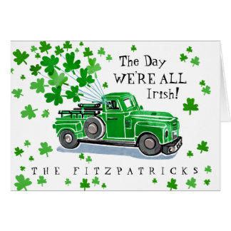 Cartes Le jour vintage de St Patrick vert de camion