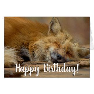 Cartes Le joyeux anniversaire lui prennent le Fox facile