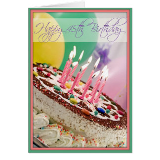 Cartes Le joyeux quarante-cinquième anniversaire de la
