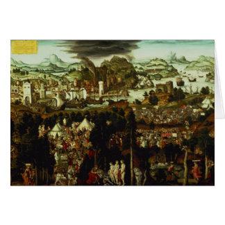 Cartes Le jugement de Paris et de la guerre Trojan, 1540