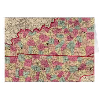 Cartes Le Kentucky et le Tennessee 2