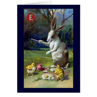 Cartes Le lapin joue Diablo avec le cru Pâques de