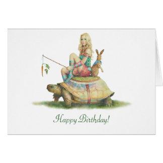 Cartes Le Lièvre et la Tortue, joyeux anniversaire
