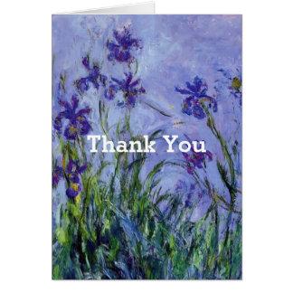 Cartes Le lilas irise le Merci de beaux-arts de Monet