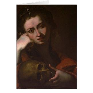 Cartes Le Magdalen contrit (Vanitas) par Jusepe Ribera