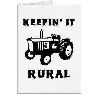 Cartes Le maintenant rural
