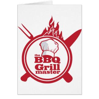 Cartes Le maître de gril de BBQ