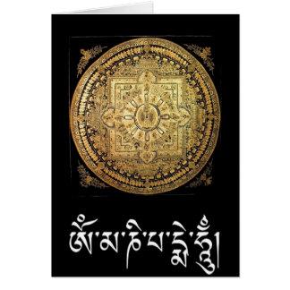 Cartes Le mandala Mille-Armé d'Avalokiteshvara saluent.