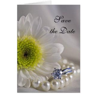 Cartes Le mariage de marguerite blanche et de bague à