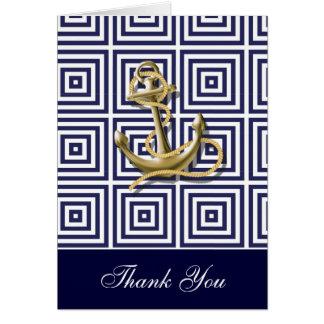 Cartes Le mariage nautique d'ancre de bleu marine vous
