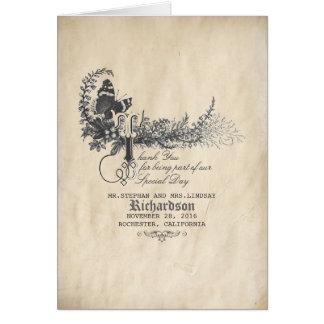 Cartes Le mariage vintage de conte de fées vous